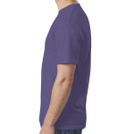 Heather Purple SoftStyle T as seen from the sleeveright