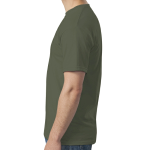 Hthr Military Green SoftStyle T as seen from the sleeveright
