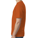 Orange SoftStyle T as seen from the sleeveright