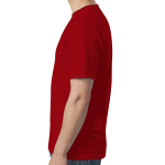 Red SoftStyle T as seen from the sleeveright