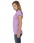 Orchid Ladies' 4.5 oz. SoftStyle Junior Fit T-Shirt as seen from the sleeveright