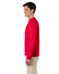 Cherry Red 4.5 oz. SoftStyle Long-Sleeve T-Shirt as seen from the sleeveright