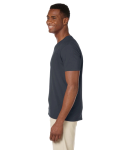 Charcoal Softstyle® 4.5 oz. V-Neck T-Shirt as seen from the sleeveright
