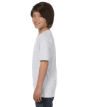 Ash Grey Youth DryBlend 5.6 oz., 50/50 T-Shirt as seen from the sleeveright