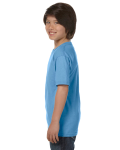 Carolina Blue Youth DryBlend 5.6 oz., 50/50 T-Shirt as seen from the sleeveright