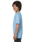 Light Blue Youth DryBlend 5.6 oz., 50/50 T-Shirt as seen from the sleeveright