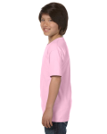 Light Pink Youth DryBlend 5.6 oz., 50/50 T-Shirt as seen from the sleeveright