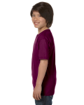 Maroon Youth DryBlend 5.6 oz., 50/50 T-Shirt as seen from the sleeveright