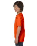 Orange Youth DryBlend 5.6 oz., 50/50 T-Shirt as seen from the sleeveright