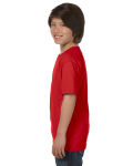 Red Youth DryBlend 5.6 oz., 50/50 T-Shirt as seen from the sleeveright