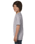 Sport Grey Youth DryBlend 5.6 oz., 50/50 T-Shirt as seen from the sleeveright