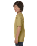 Tan Youth DryBlend 5.6 oz., 50/50 T-Shirt as seen from the sleeveright