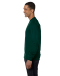 Forest Green DryBlend 5.6 oz., 50/50 Long-Sleeve T-Shirt as seen from the sleeveright