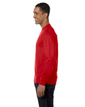 Red DryBlend 5.6 oz., 50/50 Long-Sleeve T-Shirt as seen from the sleeveright