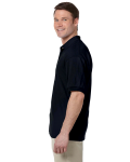 Black 5.6 oz. DryBlend™ 50/50 Jersey Polo as seen from the sleeveright
