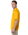 Gold 5.6 oz. DryBlend™ 50/50 Jersey Polo as seen from the sleeveright