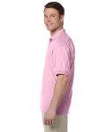 Light Pink 5.6 oz. DryBlend™ 50/50 Jersey Polo as seen from the sleeveright