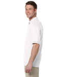 White 5.6 oz. DryBlend™ 50/50 Jersey Polo as seen from the sleeveright