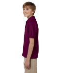 Maroon DryBlend Youth 5.6 oz., 50/50 Jersey Polo as seen from the sleeveright