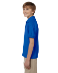 Royal DryBlend Youth 5.6 oz., 50/50 Jersey Polo as seen from the sleeveright