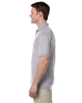 Sport Grey DryBlend™ 6 oz., 50/50 Jersey Polo with Pocket as seen from the sleeveright