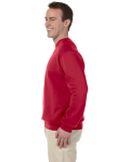 Red 9.5 oz. Ultra Cotton 80/20 Fleece Crew as seen from the sleeveright