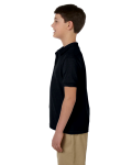 Black DryBlend Youth 6.5 oz. Piqué Sport Shirt as seen from the sleeveright