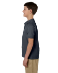 Charcoal DryBlend Youth 6.5 oz. Piqué Sport Shirt as seen from the sleeveright