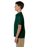Forest Green DryBlend Youth 6.5 oz. Piqué Sport Shirt as seen from the sleeveright