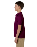 Maroon DryBlend Youth 6.5 oz. Piqué Sport Shirt as seen from the sleeveright