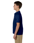 Navy DryBlend Youth 6.5 oz. Piqué Sport Shirt as seen from the sleeveright