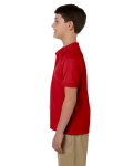 Red DryBlend Youth 6.5 oz. Piqué Sport Shirt as seen from the sleeveright