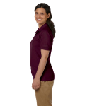 Maroon DryBlend Ladies' 6.5 oz. Piqué Sport Shirt as seen from the sleeveright