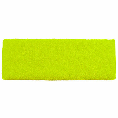 Fluorescent Yellow-green Headbands as seen from the front