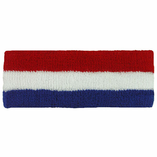 Red/white/blue Headbands as seen from the front