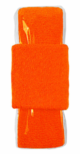 Fluorescent Orange Headband-Wristband Combo  as seen from the front