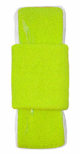 Fluorescent Yellow-green Headband-Wristband Combo  as seen from the front