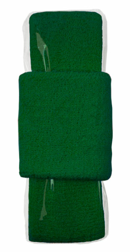 Kelly Green Headband-Wristband Combo  as seen from the front