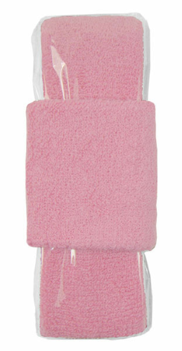Light Pink Headband-Wristband Combo  as seen from the front