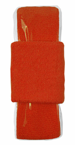 Orange Headband-Wristband Combo  as seen from the front