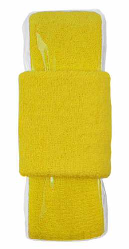 Yellow Headband-Wristband Combo  as seen from the front