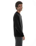 Black MADE IN USA Unisex Classic Crew Sweatshirt as seen from the sleeveleft