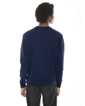 Dark Navy MADE IN USA Unisex Classic Crew Sweatshirt as seen from the back