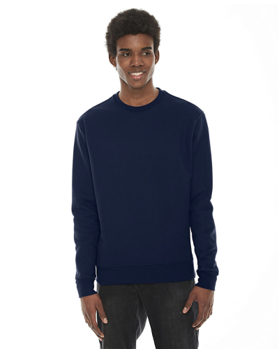 Dark Navy MADE IN USA Unisex Classic Crew Sweatshirt as seen from the front