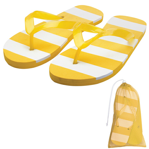 Striped Adult Flip Flops