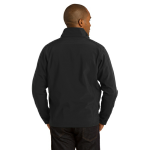 Black Port Authority Core Soft Shell Jacket as seen from the back