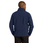 Dress Blue Nvy Port Authority Core Soft Shell Jacket as seen from the back