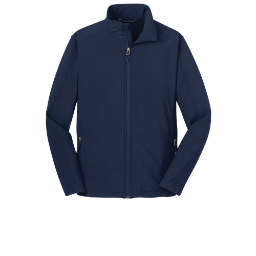 Dress Blue Nvy Port Authority Core Soft Shell Jacket as seen from the front