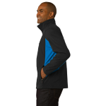 Black Imp Blue Port Authority Core Colorblock Soft Shell Jacket as seen from the sleeveleft