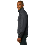 Mag Grey Black Port Authority Vertical Soft Shell Jacket as seen from the sleeveright